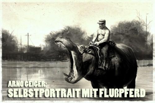 Selbstportrait-mit-Flusspferd