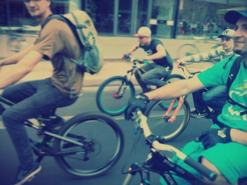 Auch sportliche Biker sind dabei